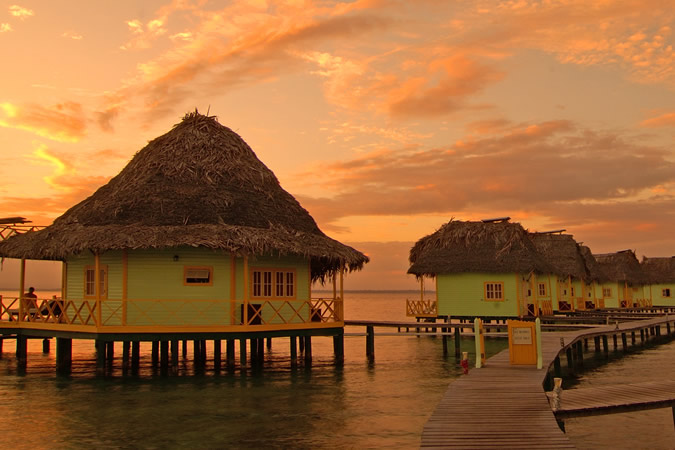 when the sun goes down in bocas del toro