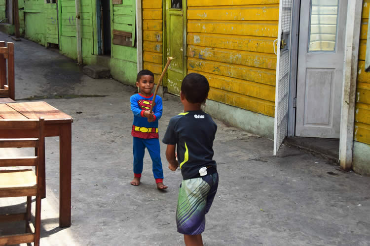 Local children playing in the streets of Casco Viejo