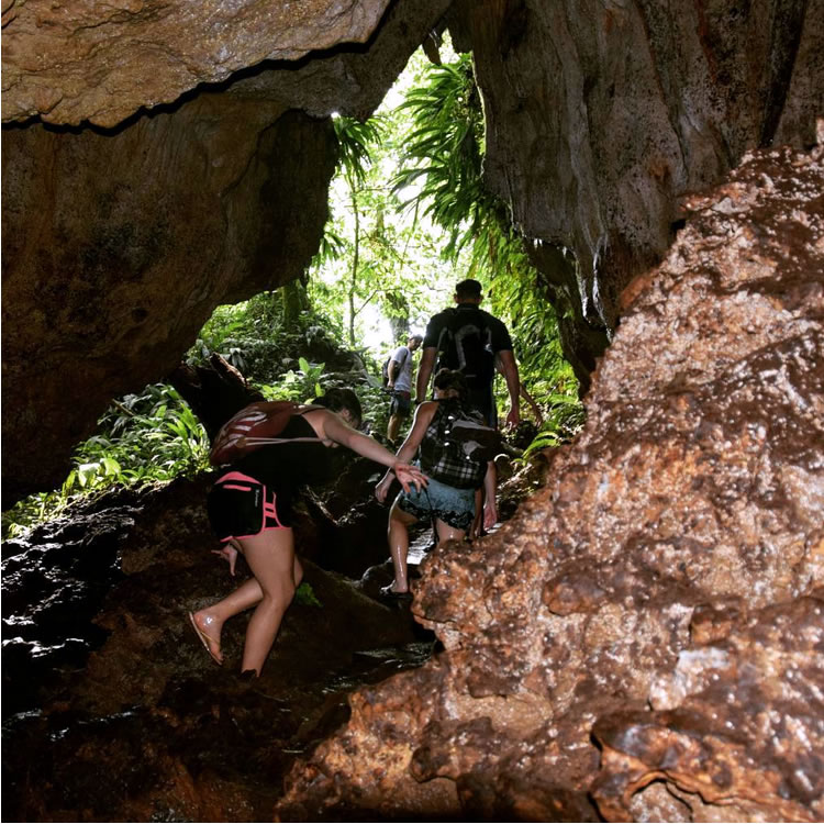 Nivida Cave in Bastimentos Nationa Marine Park, Bocas del Toro, Panama