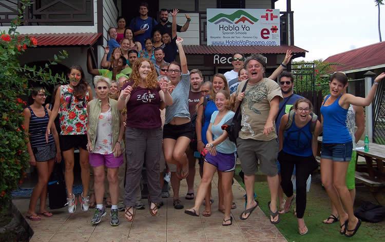 Group of Spanish students at Habla Ya Bocas del Toro