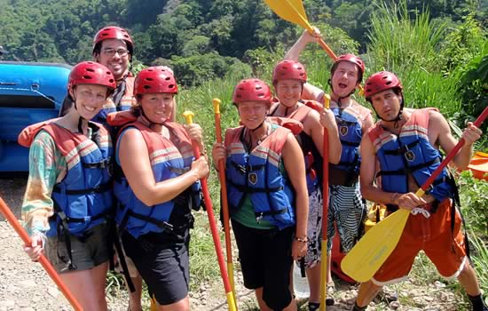 Wearing our Rafting Gear just before starting our trip