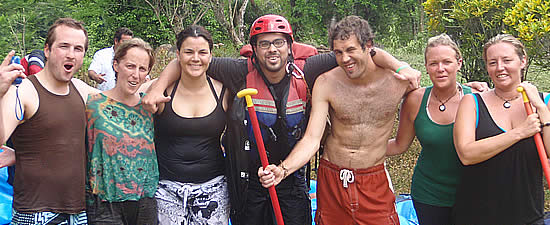 Our group at the end of our Rafting Trip