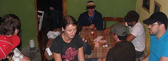 Poker night and Nomba Hostal in Boquete Panama