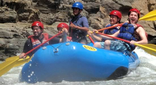 Even during the dry season you get class 3 and 4 rapids in the Chiriqui Viejo