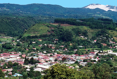 Panoramic Photo of the town of Boquete, Panama