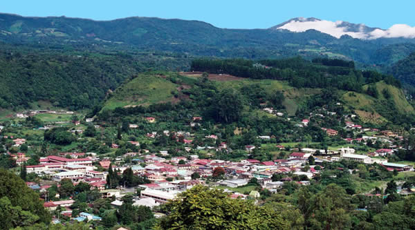 View of the town of Boquete, Panama