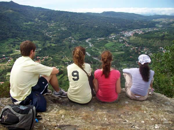 View of the town of Boquete from La Piedra de Lino