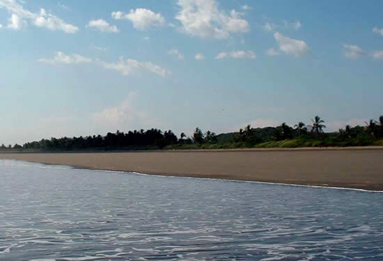 Las Lajas is one of Central America's longest sand beaches