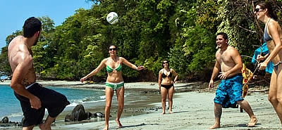 Volleyball session in the Chiriqui Gulf National Marine Park