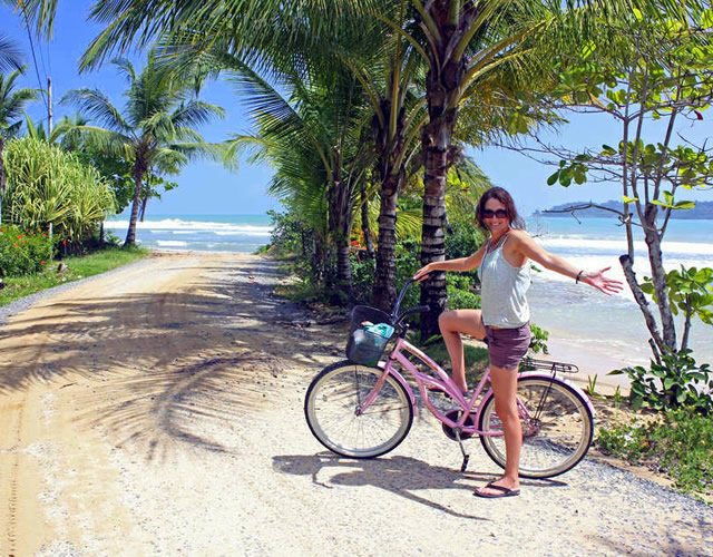 Cycling To Bluff Beach In Bocas Del Toro Panama