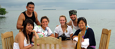 Waiting for lunch at restaurant in Crawl Cay, Bocas del Toro