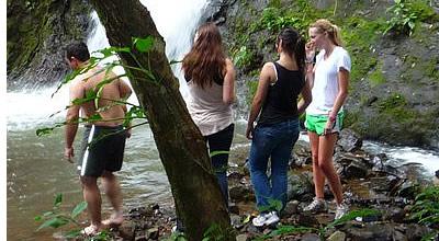Waterfall La Esperanza in Soloy, Chiriqui, Panama