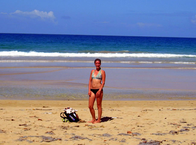 Me at Red Frog Beach in Bocas del Toro, Panama