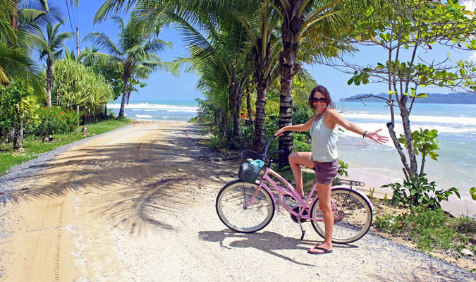 You can rent a bicycle by the day for about $8 or you can buy a second hand one during your time in Bocas del Toro