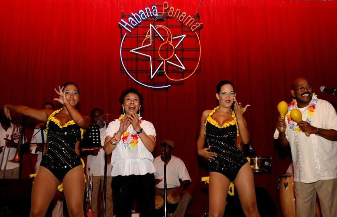 The stage of the Habana Club in Casco Viejo