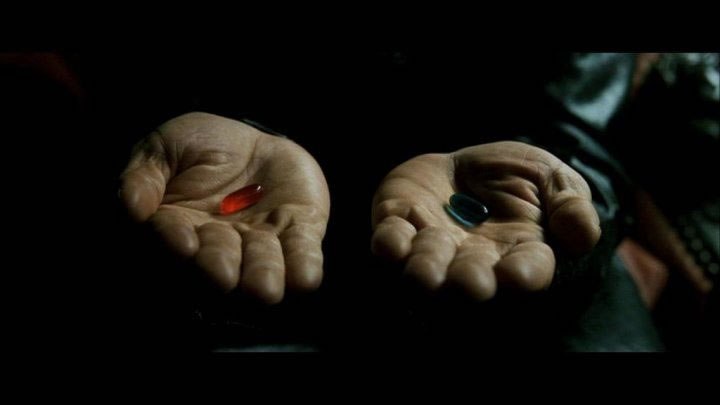 Having someone ask me what I was doing with my life felt like the Matrix when Morpheus offered Neo the blue pill or the red pill... I chose freedom!