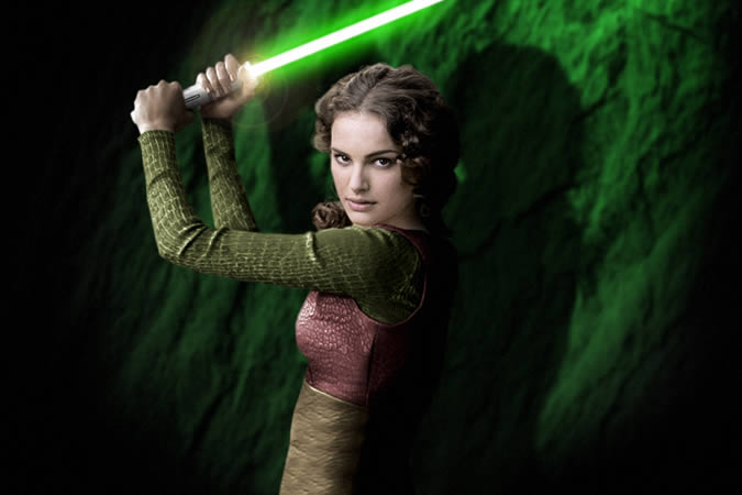 Although it does look cool, no, I did not become that type of Jedi... and yes, girls can be Jedis too!