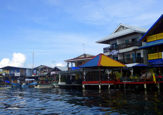 View of Bocas Town from the Water. We had a stunning day ahead of us!