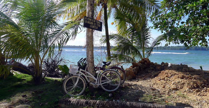Once you get to Starfish Beach, make sure to lock up and secure your bike!