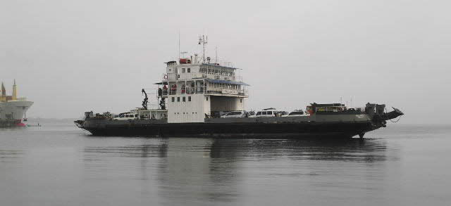 Several times a week a Ferry Boat loaded with trucks and cars arrives to the island from Almirante brining all sorts of goods, from fuel to food