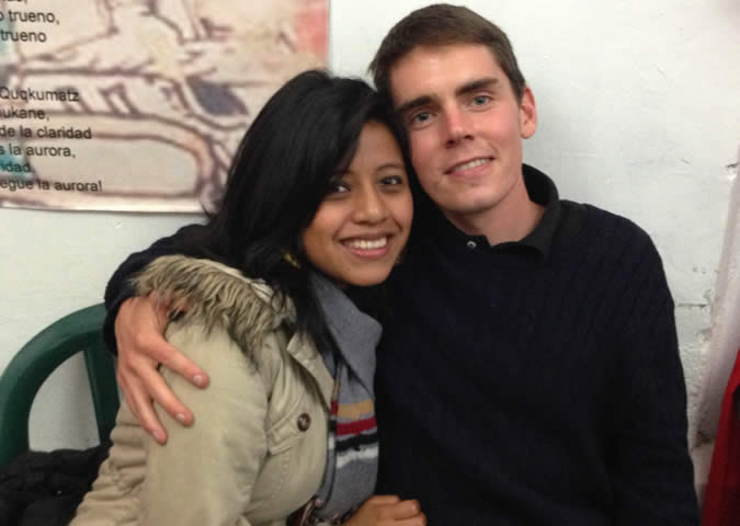 Me and my Spanish instructor from Guatemala