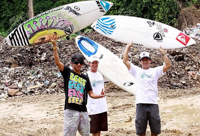 More than 4 years ago, a group of local surfers spearheaded an initiative to eliminate a horrendous dump which was located less than 30 meters from the sea, close to a famous surf break known as Dumpers on the way to Bluff Beach. Now, we're not asking you to deal with a dump, but if you do manage to see the odd piece of plastic by the beach, please take it back to town with you.