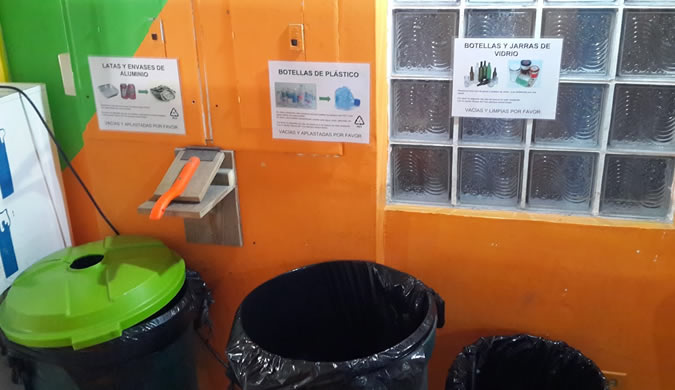Implementing a system to separate trash isn't that difficult and then the recycling truck can come and pick up your recyclables once a week AND under the new system, in which trash collection for businesses is charged on a per bag bases this actually means SAVINGS for your business