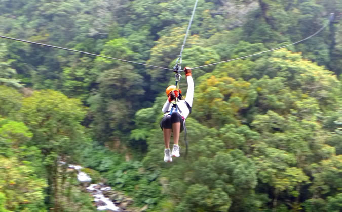 Nothing beats the adrenaline of the very first time you really get some speed going on the zipline