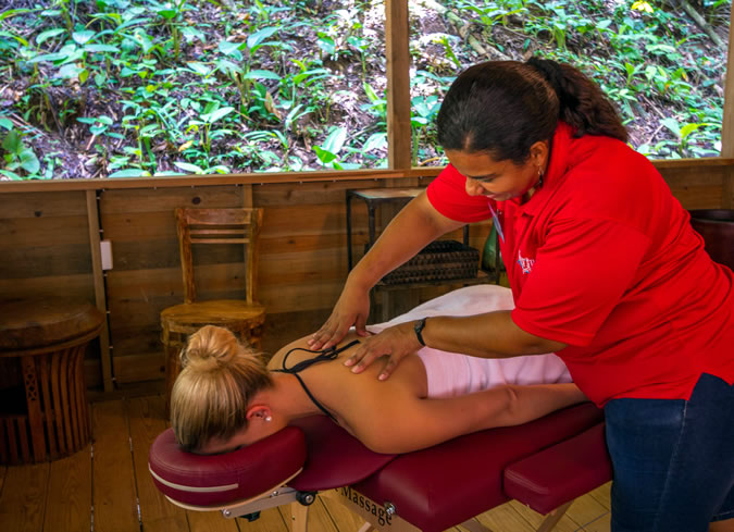 Having a massage in the rain forest certainly enhances an already relaxing experience