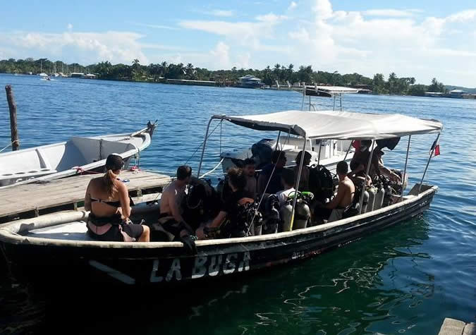 It was a good group of us that headed out diving. At the front of the boat that's Jill, my lovely diving instructor