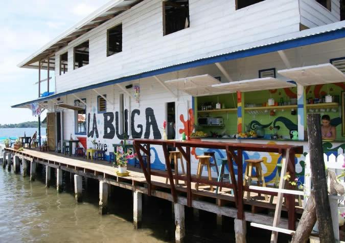 La Buga Dive Center is located right over the Caribbean Sea in Bocas Town