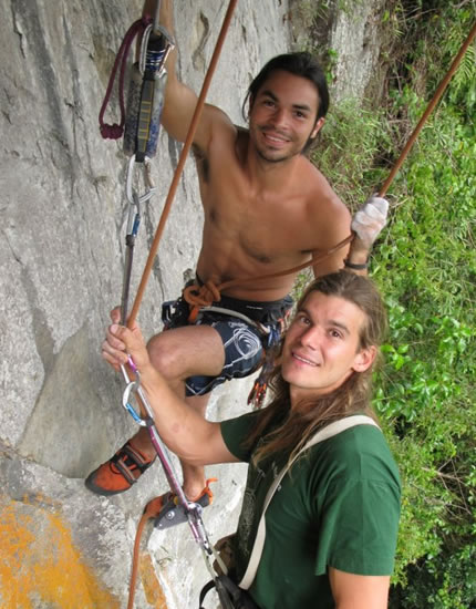 Christian Schieffer worked with Gary and Cesar bolting the first rock climbing routes in Boquete, Panama
