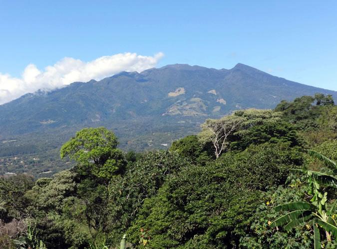 View of the Baru Volcano from El Mirador Cafe in Alto Jaramillo