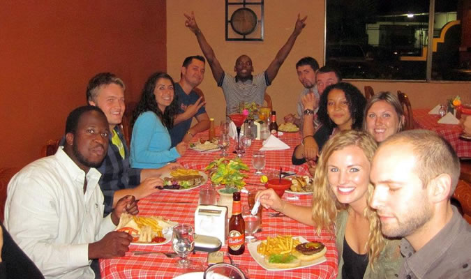 Every Thursday we go with our students to one of Boquete's best restaurants and share a nice meal