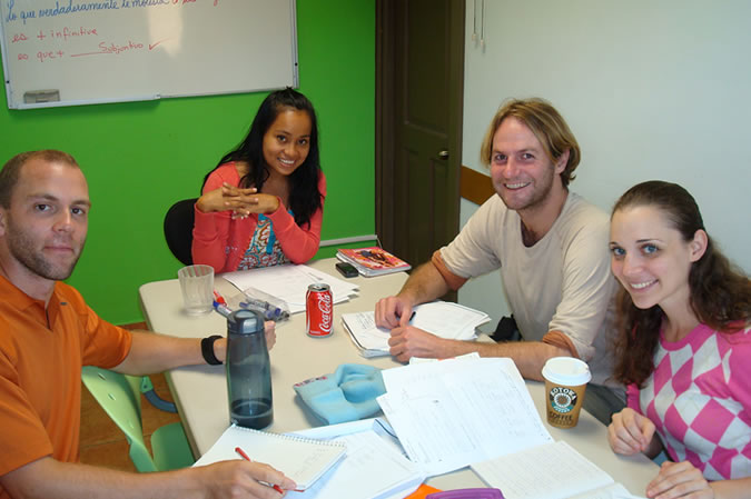 Small groups of students (average 3 - 4 per class, maximum 6) with classmates of your same level, ensure that you will receive the personalized attention required to learn Spanish fast! It also doesn't hurt that all of our teachers have university degrees related to languages and that we are accredited by the Instituto Cervantes, the worldwide authority in teaching Spanish as a foreign language. Spanish class at Habla Ya Boquete.