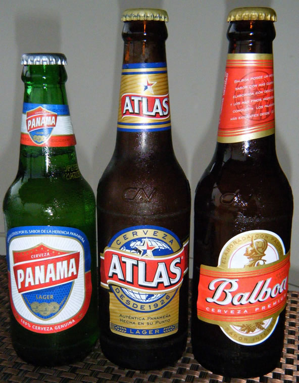 Panamanian beer: Panamá, Atlas and Balboa