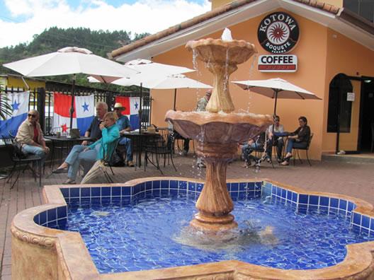 Kotowa Coffe House at Los Establos Plaza. Photo from Panama for the Winter Blog.