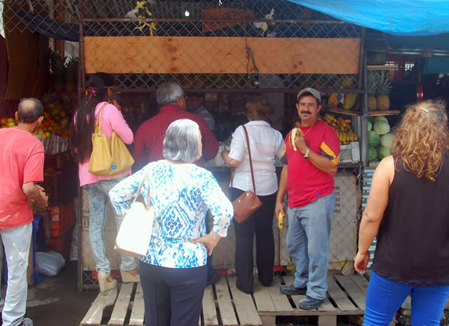 Benjamin's, the most popular stall in Boquete's makeshift market (the permanent market is under construction). Down the lane next to Café Central Park, last stall on your right.