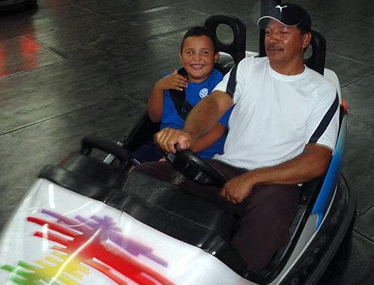 Lorena's son and husband