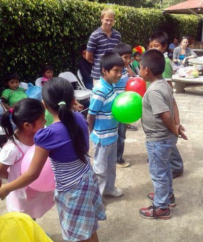 Volunteering with children in Boquete, Panama