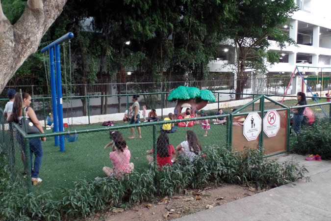 Childrens' area at Andrés Bello Park in Panama City