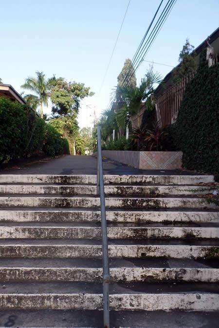 Walkway to Benito Juarez Park in Panama City